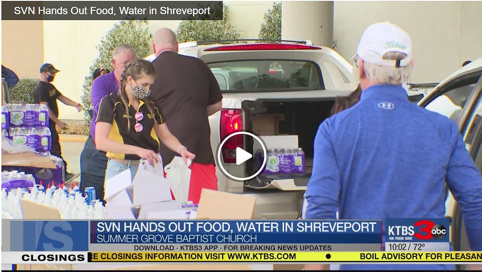 SVN hands out water and food Summer Grov