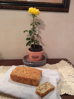 Pão de cevada caseiro