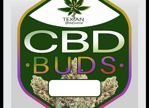 CBD Rich Hemp Buds 1/8th oz