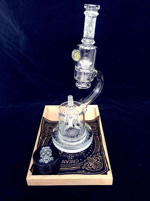Cream glass CR024