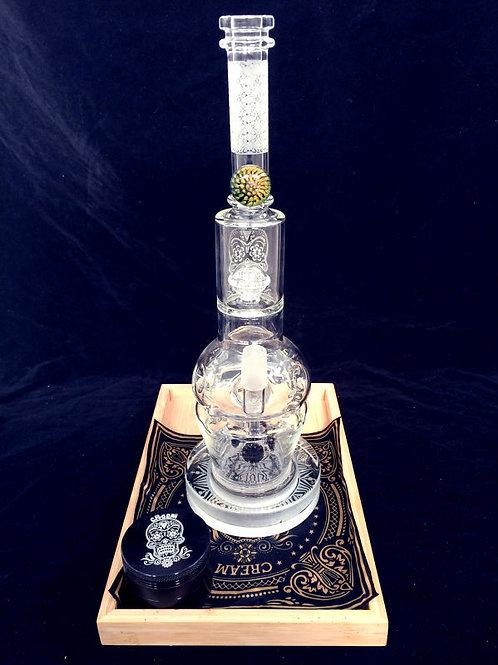 Cream glass CR032