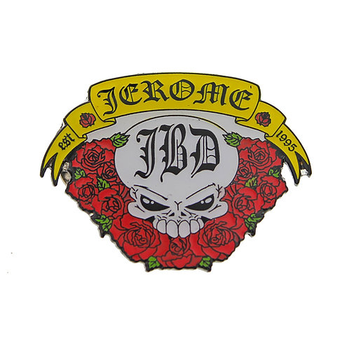 Jerome Baker -Skull and Roses Pin