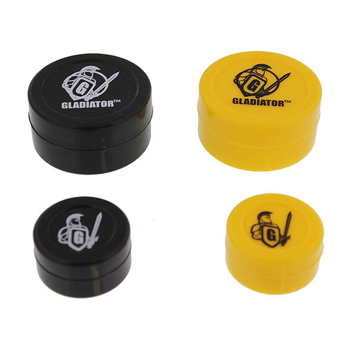 Silicone Jar -The Gladiator 4 Pack (2 sm, 2lg)
