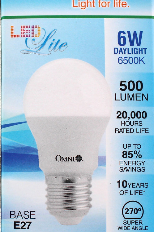 OMNI 6W DayLight 日光 LED 燈泡 (Base E27)