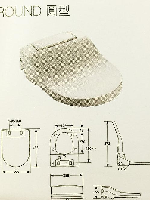 804006005 MULTICLEAN Round 豪華型電子廁板 - 圓型