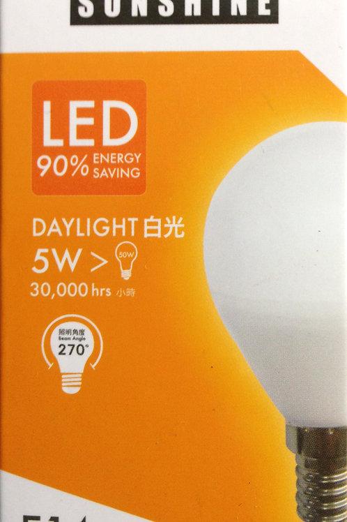 SUNSHINE 5W LED 燈泡 x 3 個 (Base 14) 黃或白光