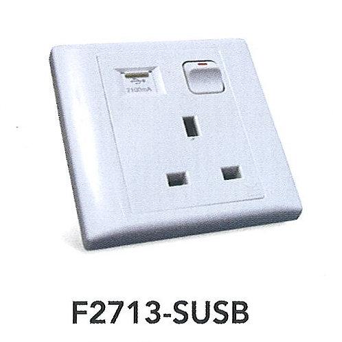 Glacier 13A Switch Socket Outlet w/ USB F2713-SUSB