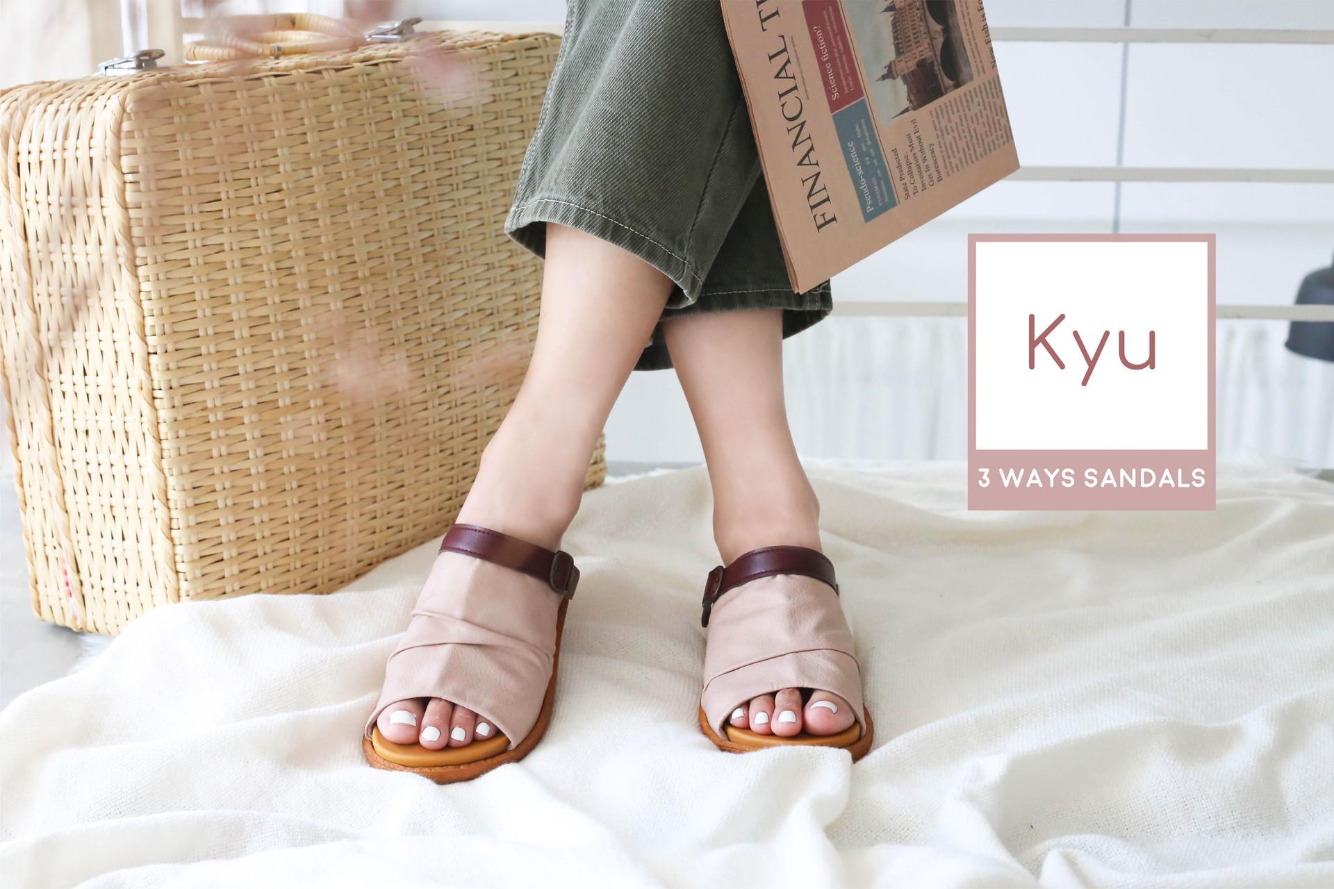 Kyu 3 ways Soft Sandals