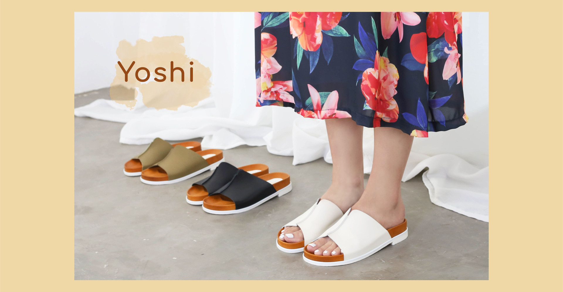 Yoshi น้องใหม่ Sandals หนังแท้ นุ่มสบายเท้าในราคาสบายกระเป๋า ที่เราจัดมาคืนกำไรให้ทุกคน - 2880 THB