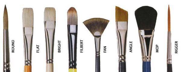 Brushes, types and styles