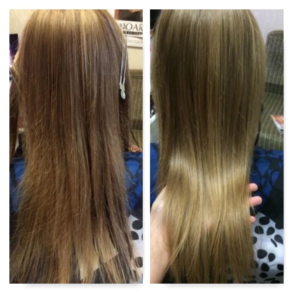 Спа-увлажнение волосы до и после