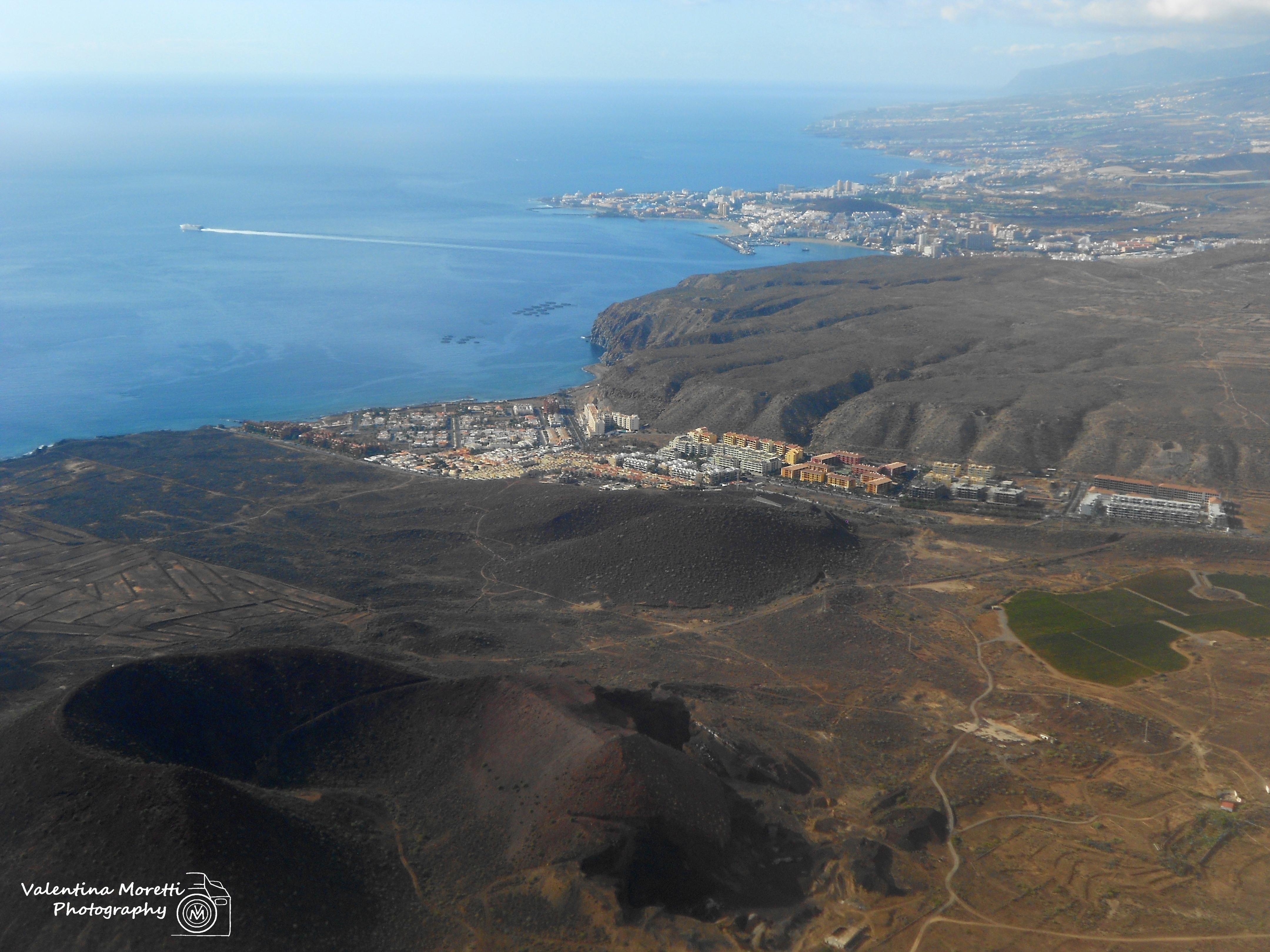 Tenerife vista dall'aereo