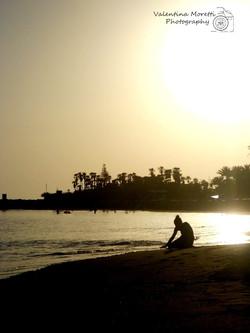 Tramonto sulla spiaggia