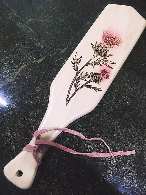 Pink Thistle - Rectangle