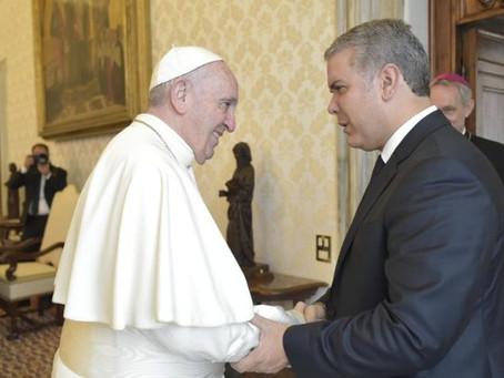 """El Papa al Presidente de Colombia: """"tomen decisiones a favor del planeta"""""""
