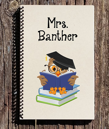 Teacher Owl Notebook