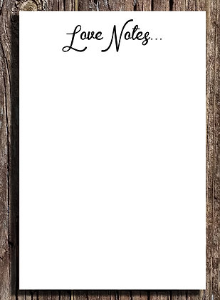 Love Notes Notepad -  Set of Two 5.5x8.5