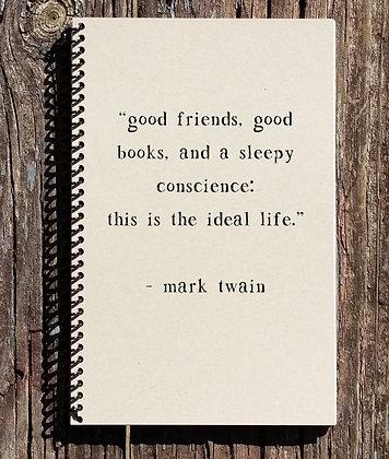 Mark Twain The Ideal Life Notebook