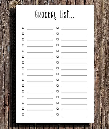 Grocery List Notepad - Set of Two 5.5x8.5
