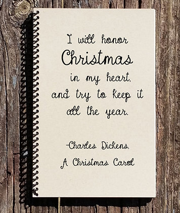 A Christmas Carol Notebook