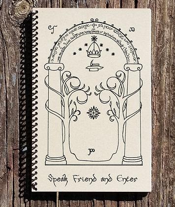 LOTR Journal - LOTR Notebook - Gates of Moria - Speak Friend and Enter