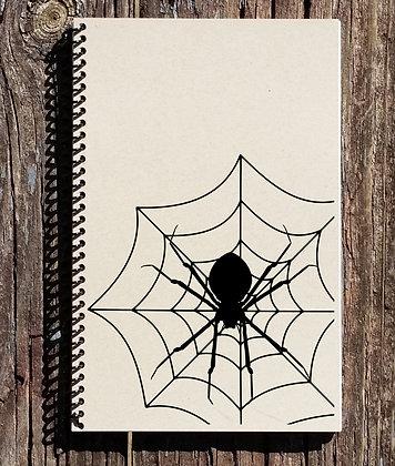 Halloween Spiderweb Notebook