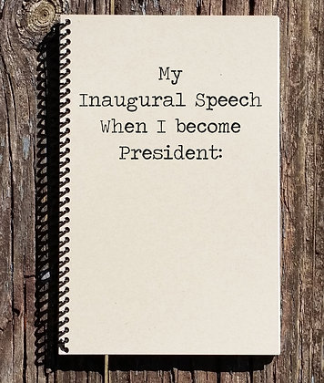 My Inagural Speech Notebook