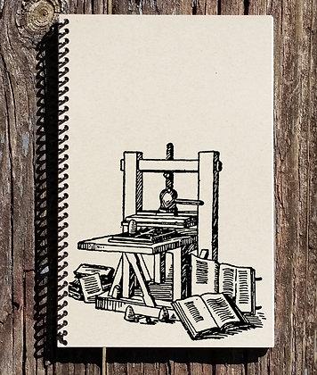 Gutenburg Printing Press Notebook