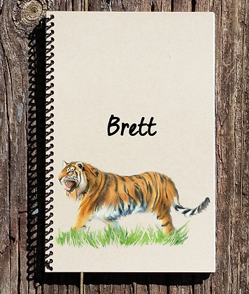 Tiger Personalized Notebook