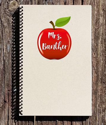 Teacher Apple Notebook