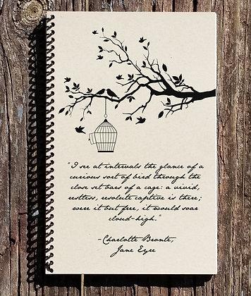 Jane Eyre Journal - Jane Eyre - Bird in a Cage - Notebook