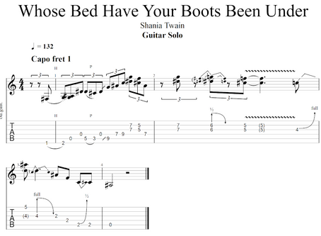 "Guitar Solo from ""Whose Bed Have Your Boots Been Under"" by Shania Twain"