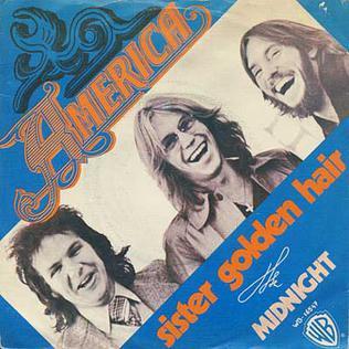 Album cover for America song Sister Golden Hair