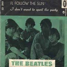 Album cover for The Beatles I'll Follow the Sun single