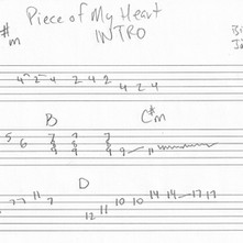 """""""Piece of My Heart"""" Intro Guitar Tab"""