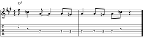 The funky IV guitar lick