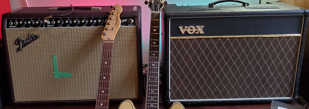Guitar amps Fender and Vox