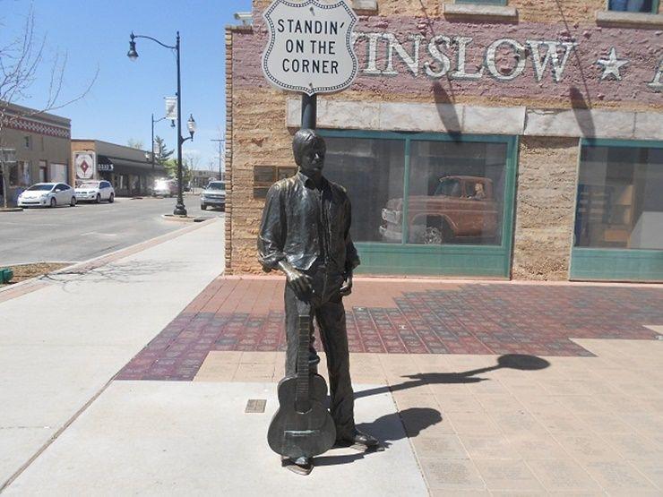 Glenn Frey statue in Winslow Arizona