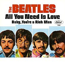 Beatles All You Need Is Love album cover