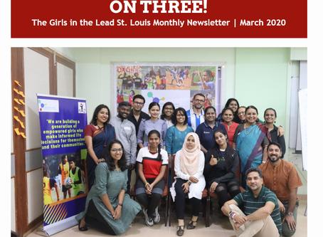 Sign up for On Three!: The Girls in the Lead Monthly Newsletter