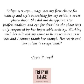 Testimonial- Joyce Parayil