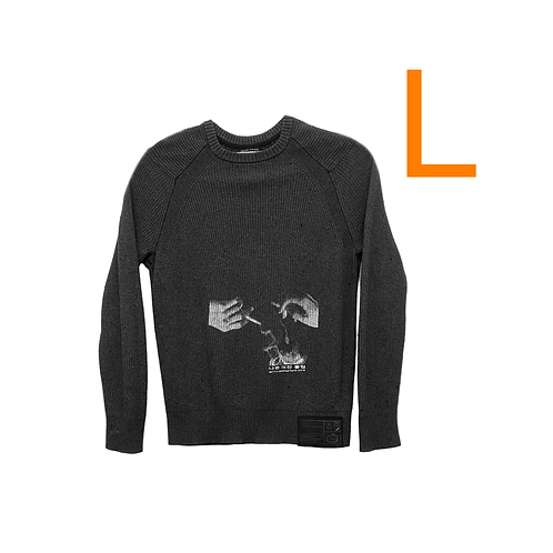 Bad GF Club Pebble Grey Ribbed Sweater