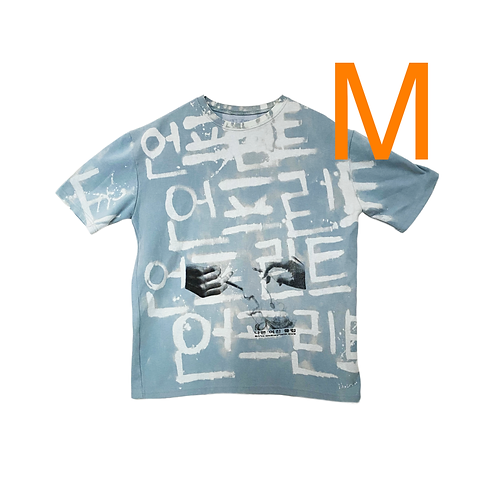 Bad GF Club Cotton Candy Hangul Bleached Tee