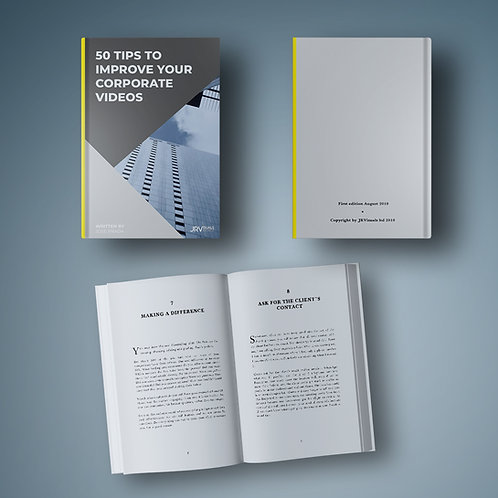 Digital book – 50 TIPS TO IMPROVE YOUR CORPORATE VIDEOS