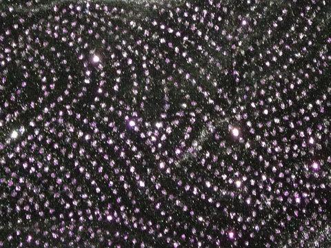 Purple Glitter Swirls on Black