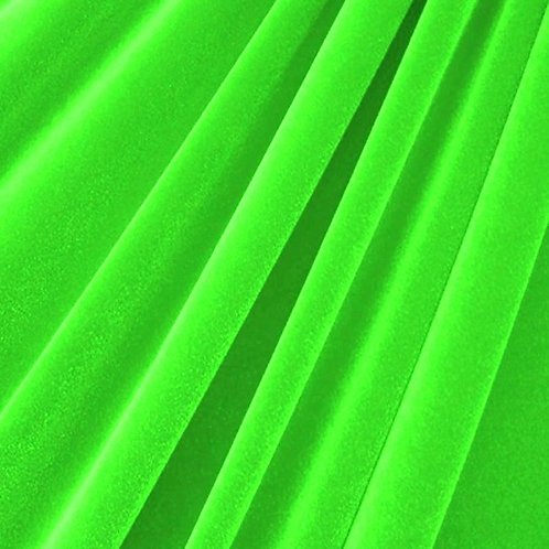 Lime Green Velvet
