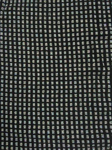 Black Glitter Squares on Black