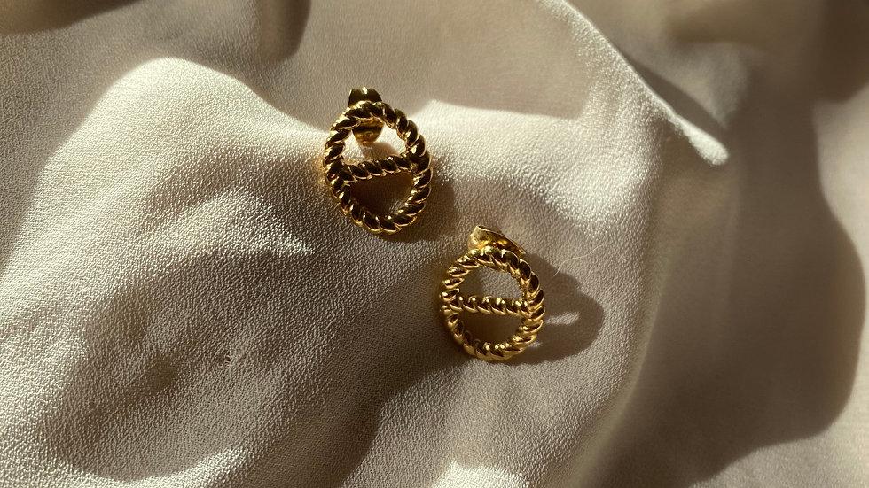 Boucles d'oreilles PACO doré