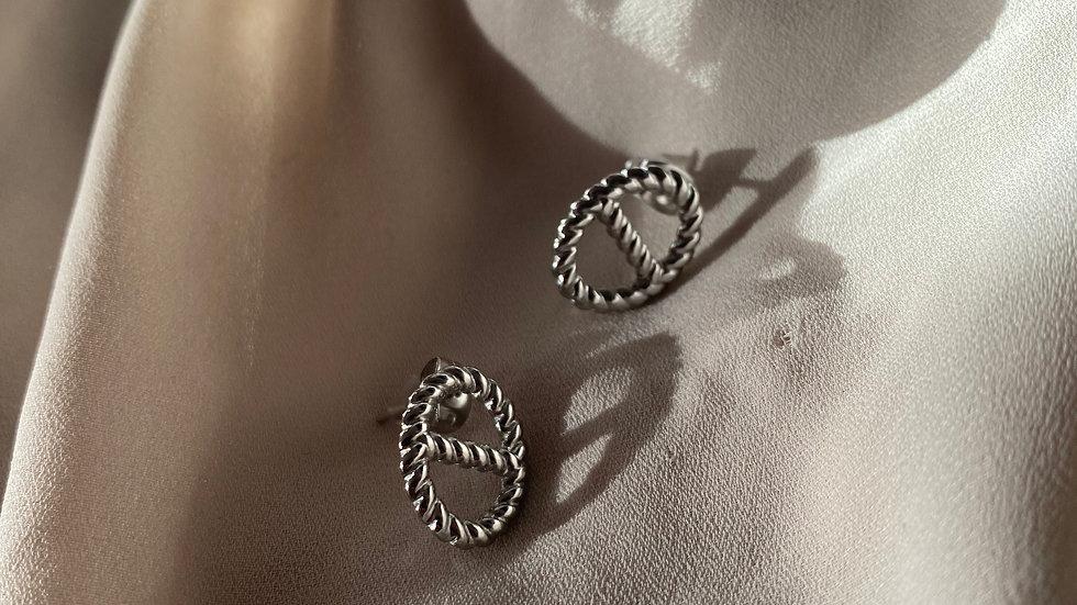 Boucles d'oreilles PACO argenté