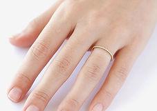 Thin Ring on Finger